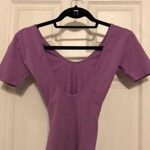 American Apparel Other - Purple short sleeve leotard